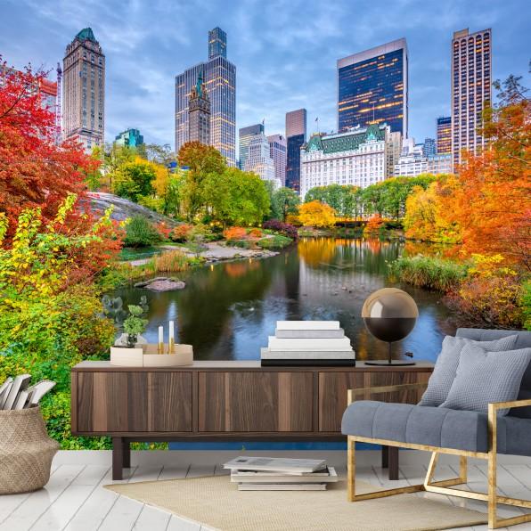 Behang herfst in New York