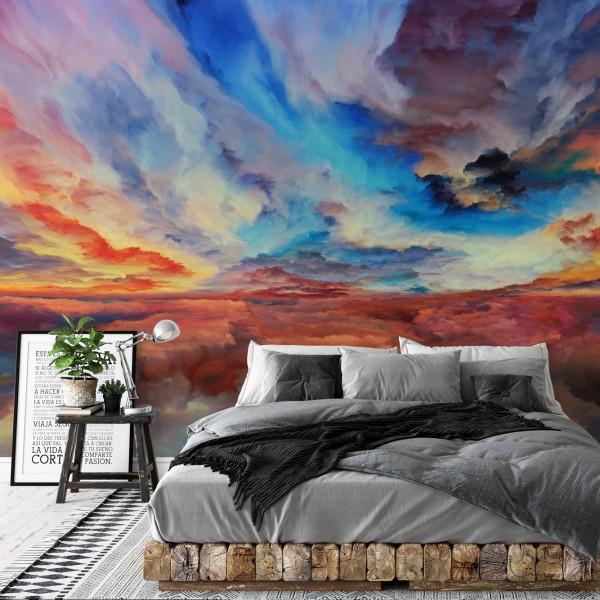 Behang met abstract landschap