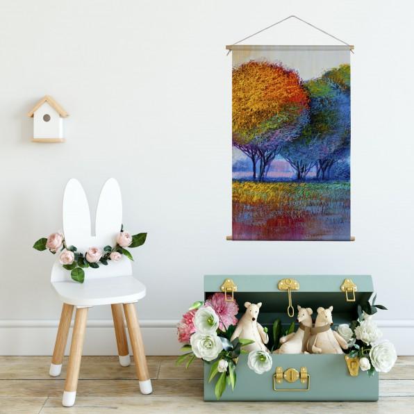 Textielposter met schilderij