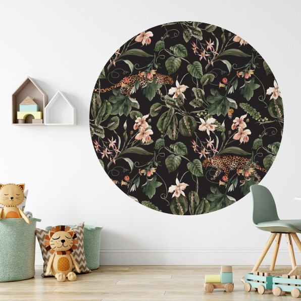 Behangcirkel met tropisch patroon
