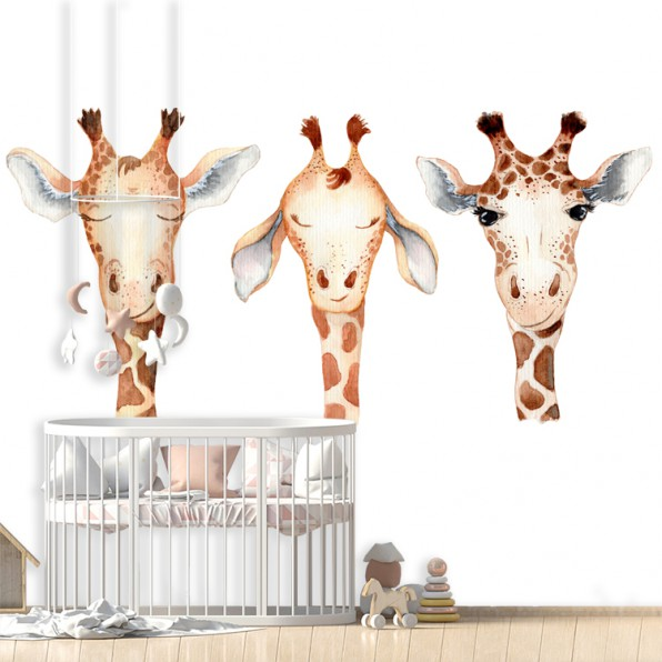 Behang Giraffe cartoon