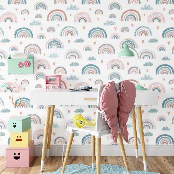 Behang met regenbogen patroon