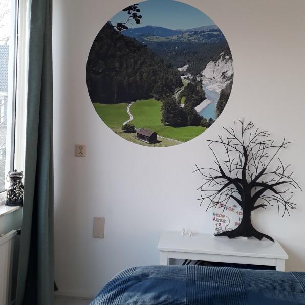 Behangcirkel met eigen foto