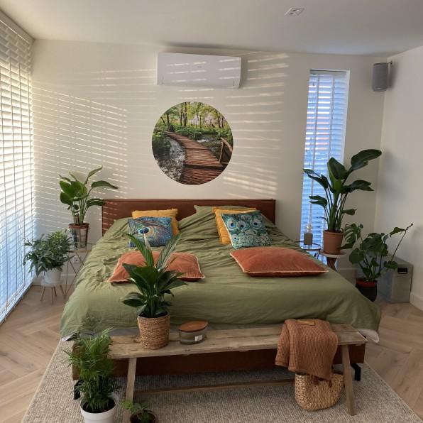 Behangcirkel slaapkamer