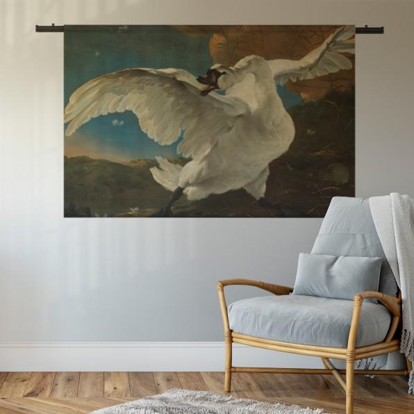 Wandkleed met de bedreigde zwaan, Jan Asselijn,