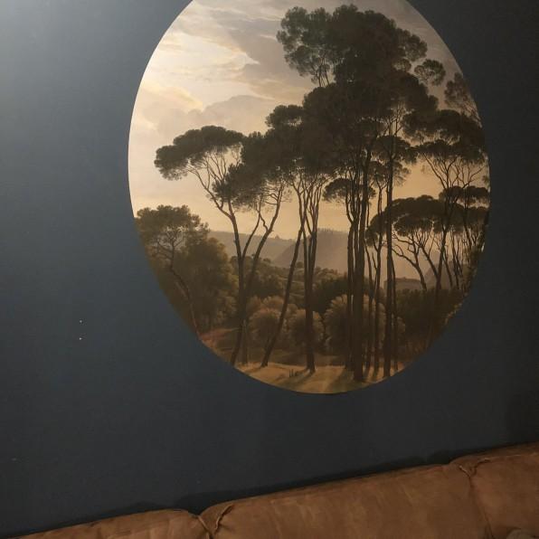 Behangcirkel Italiaans landschap