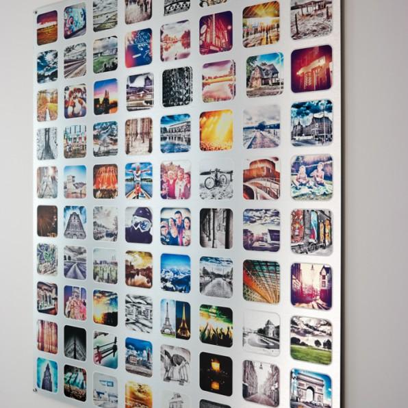 Instagram collage Brushed Aluminium