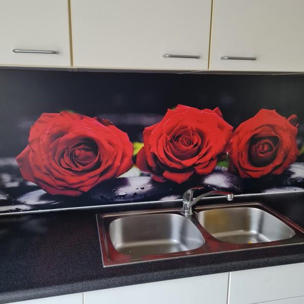 Keuken spatwand met rozen