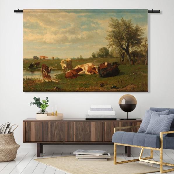 Wandkleed Koeien in de weide, Gerard Bilders