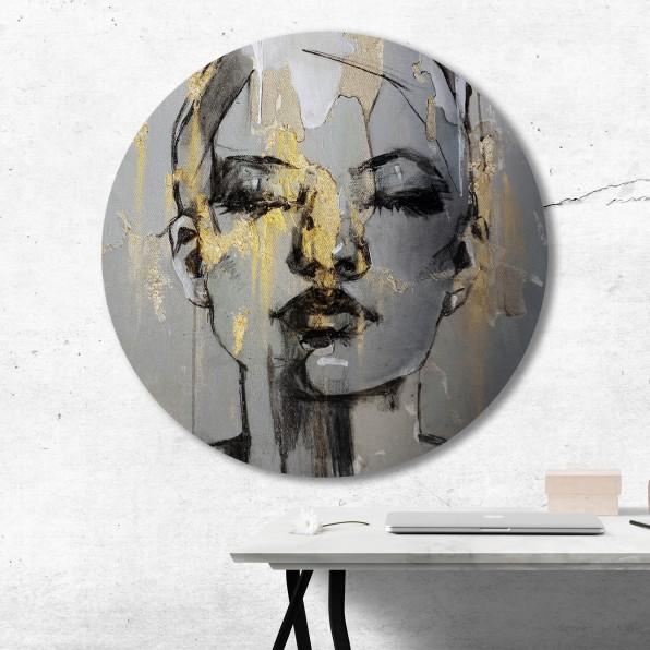 Muurcirkel illustratie van vrouw
