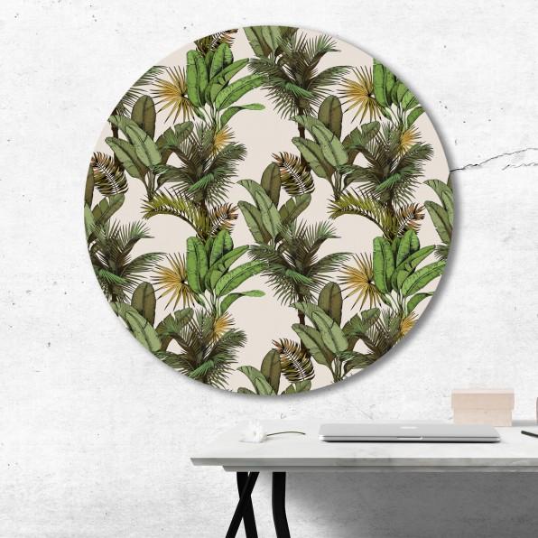 Muurcirkel met bananenplanten