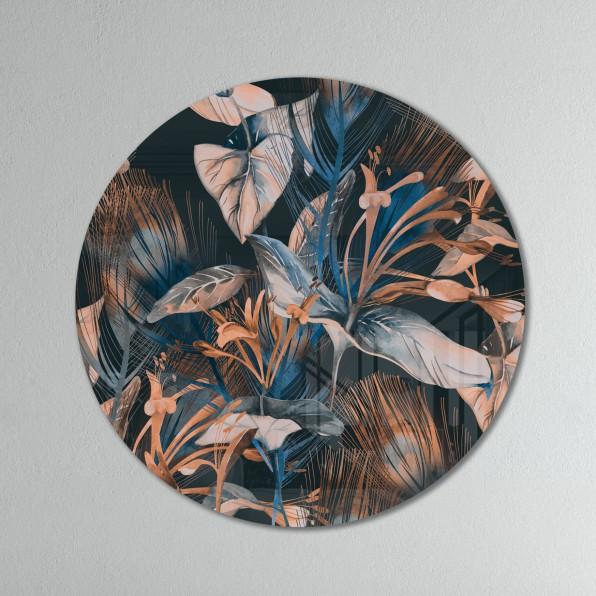 Plexiglas muurcirkel met bladeren