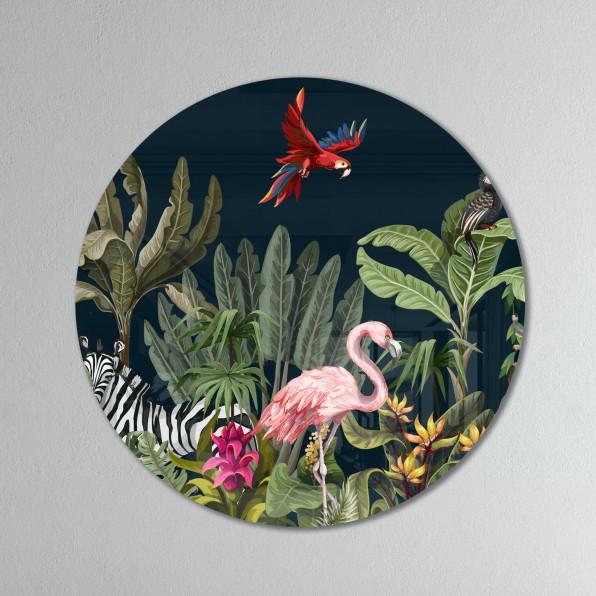 Muurcirkel met Jungle illustratie