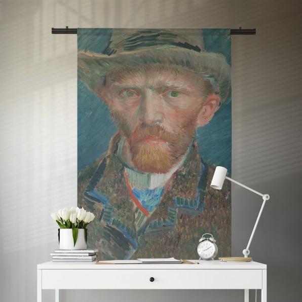 Wandkleed met zelfportret van Vincent van Gogh