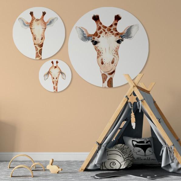 Muurcirkel met Giraffe