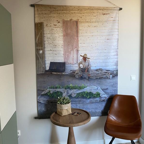 Wandkleed met eigen foto en ophangsysteem