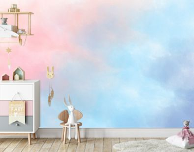 light pink, lilac and blue watercolor background diagonal gradient background