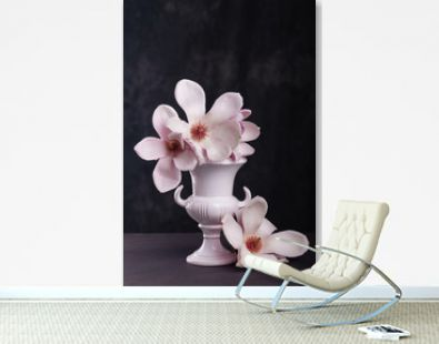 Still life with blooming magnolia