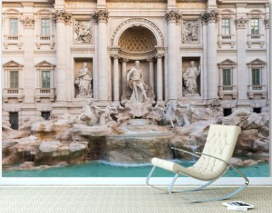 View of Trevi Fountain in Rome