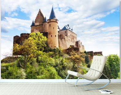Vianden castle fortifications, Luxembourg