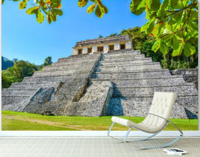 Ancient Mayan ruins of Palenque in Chiapas, Mexico