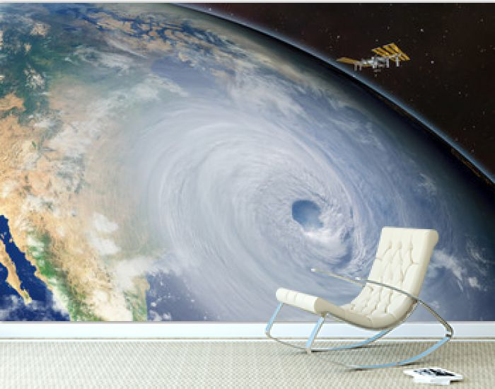 Giant hurricane seen from the space