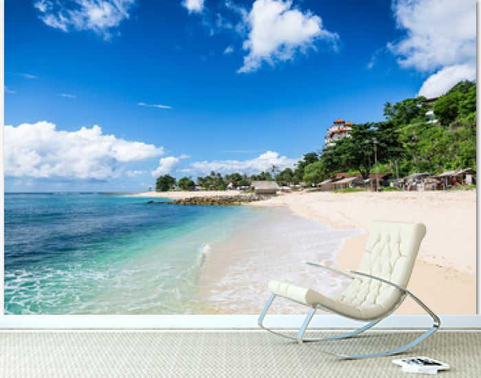 Tropical beach with white sand in Bali