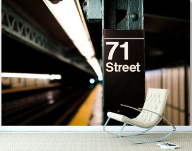 Street sign in subway