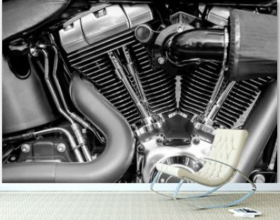 engine, motorcycle, motorcycle engine close-up detail background..