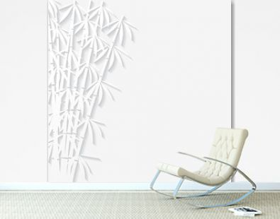 Abstract background with paper bamboo