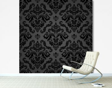 Classic seamless pattern. Damask orient ornament. Classic vintage dark background. Orient ornament for fabric, wallpaper and packaging