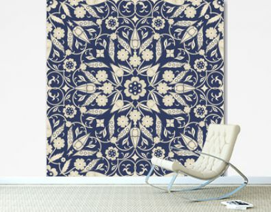 Seamless turkish colorful pattern. Eastern floral pattern can be used for ceramic tile, wallpaper, linoleum, textile, web page background