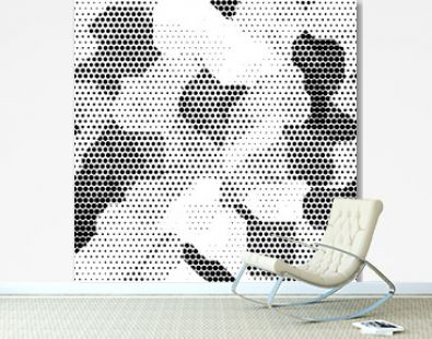 Modern seamless pattern with dots transition halftone