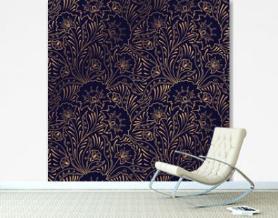 Luxury background vector. Floral royal pattern seamless. Indian design for yoga wallpaper, beauty spa salon ornament, indian wedding party, birthday wrapping paper, bridal, holiday birthday gift.