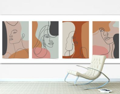 Collection of woman background set with color.Editable vector illustration for website, invitation,postcard and sticker