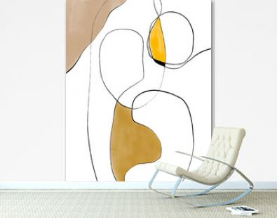 Abstract Mid century modern art texture illustration