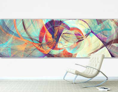 Abstract bright motion composition. Modern futuristic dynamic background. Color paint pattern. Fractal artwork for creative graphic design