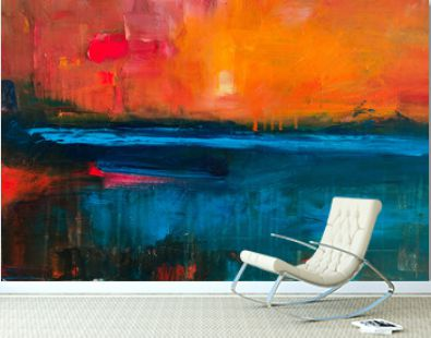 Colorful Abstract oil painting background. Oil on canvas texture. Hand drawn oil painting.Color texture. Fragment of artwork. Brushstrokes of paint. Modern art.