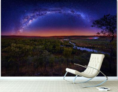 Milky Way arching over El Questro National Park in Western Australia