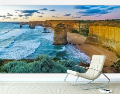 twelve apostles at sunset,great ocean road at port campbell, australia 142