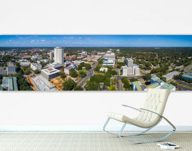 Aerial panorama Downtown Tallahassee Florida