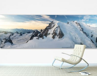 Mont Blanc, the highest point in western Europe, mountain range in the Alps