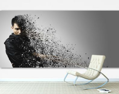 dispersion effect of asian man body shattering
