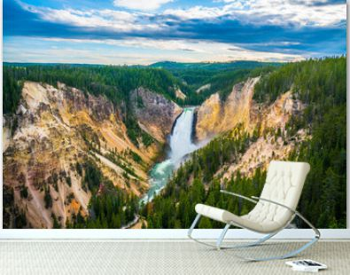 The lower fall in Yellowstone National Park, Wyoming.