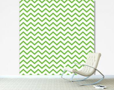 Chevron Seamless Pattern - Graphic lime green and white chevron or zig zag pattern
