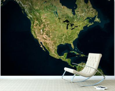 High resolution Satellite image of USA (Isolated imagery of USA. Elements of this image furnished by NASA)