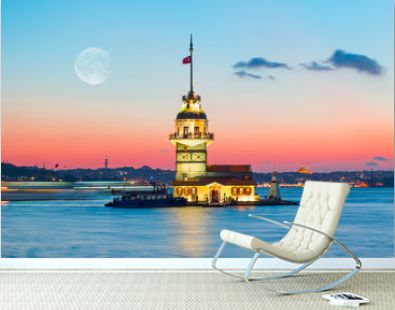 The Maiden's Tower in Istanbul-Turkey