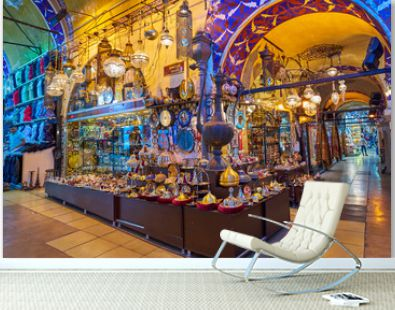 ISTANBUL, TURKEY -JULY 10 2017: Grand Bazaar, considered to be the oldest shopping mall in history