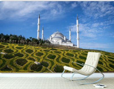 istanbul camlica mosque; camlica tepesi camii under construction camlica mosque is the largest