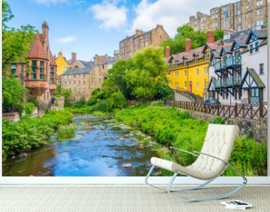 The scenic Dean Village in a sunny afternoon, in Edinburgh, Scotland.